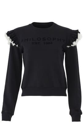 Black Philosophy Sweatshirt by Philosophy di Lorenzo Serafini