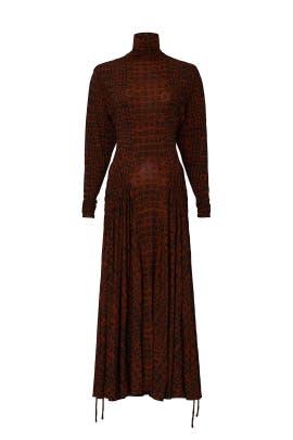 Crocodile Print Matte Jersey Dress by Proenza Schouler