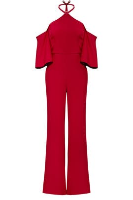 Red Halter Jumpsuit by Sachin & Babi