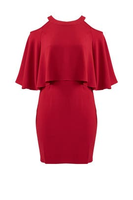 Cranberry Popover Dress by Adrianna Papell