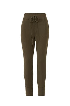 Olive Brushed Joggers by B Collection by Bobeau