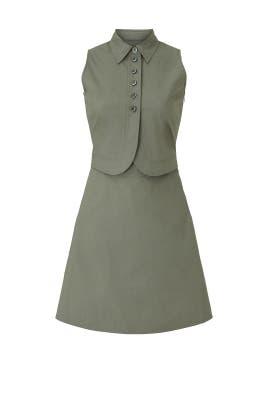Green Poplin Sleeveless Dress by Emporio Armani