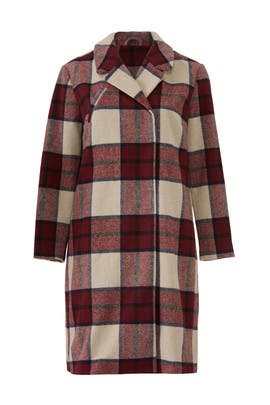 Stampi Long Checked Jacket by JUNAROSE