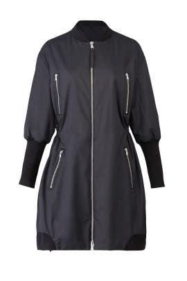 Black Zipper Jacket by KAUFMANFRANCO
