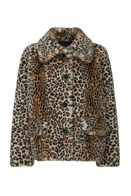 Faux Fur Leopard Fourrure Jacket by The Kooples