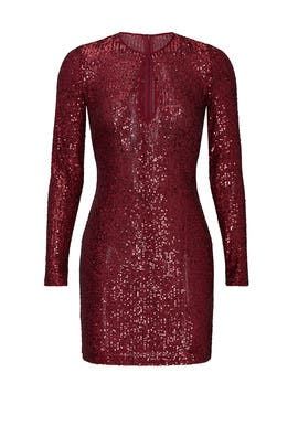 Sheer Sequin Mini Dress by NAEEM KHAN