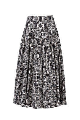 Medallion Print Pleated Skirt by DEREK LAM