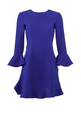 Blue Ruffle Bell Dress by Jill Jill Stuart