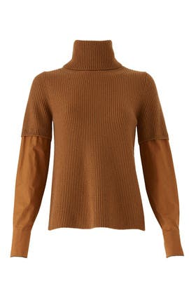 Contrast Sleeves Sweater by No. 21
