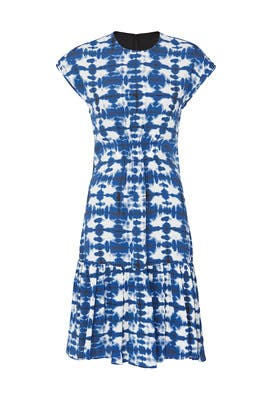 Short Sleeve Tie Dye Dress by Proenza Schouler