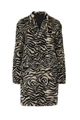 Zebra Faux Fur Teddy Coat by R13
