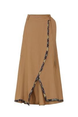 Draped A-Line Skirt by TEIJA