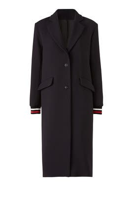 Navy Lou Coat by ba&sh