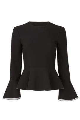 Ruthe Peplum Top by Elizabeth and James