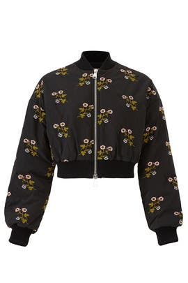 Cropped Floral Bomber by Giamba
