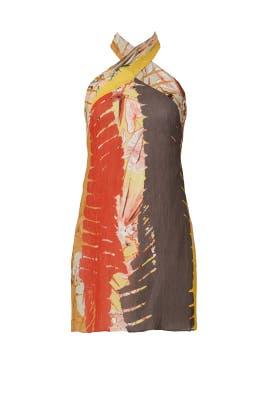 Printed Tribal Halter Dress by Josie Natori