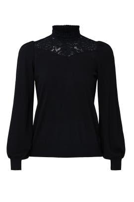 Black High Neck Sweater by Lauren Ralph Lauren