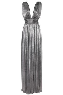 Metallic Shirred Gown by Laundry by Shelli Segal