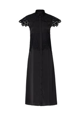 Eyelet Sleeve Dress by Paco Rabanne