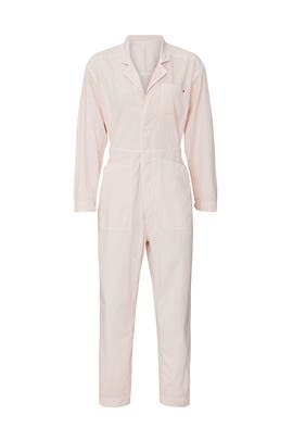 Light Pink Tiny Heart Jumpsuit by Sundry