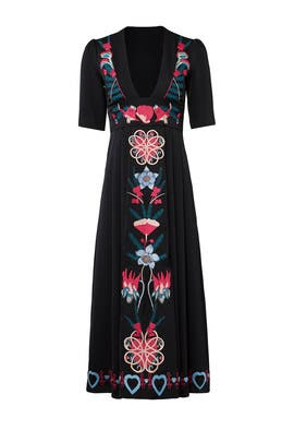Black Saturn Dress by Temperley London
