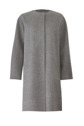 Grey Rounded Coat by Theory