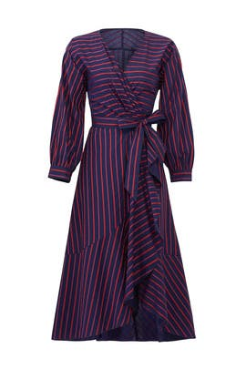 Striped Midnight Blue Dress by Tara Jarmon