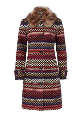 Kendell Striped Jacket by Trina Turk