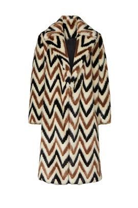 Faux Fur Chevron Wednesday Coat by Autumn Adeigbo