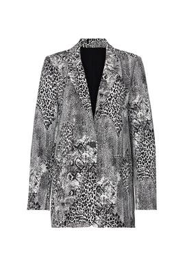 Animal Print Curtis Blazer by AFRM