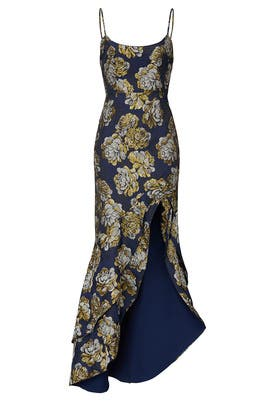 Navy Floral Malia Gown by Hutch