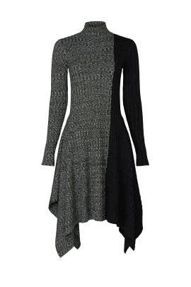 Asymmetric Color Block Dress by JW Anderson