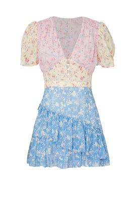 Printed Bea Dress by LoveShackFancy
