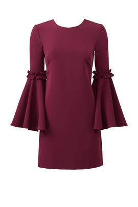 Cady Bell Sleeve Dress by Milly