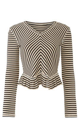 Striped Ruffle Hem Top by See by Chloe