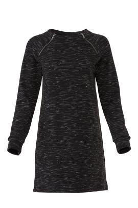 Zip Neck Sweatshirt Dress by Fifteen Twenty