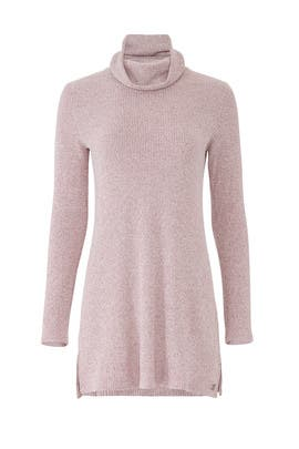 Pink Knit Turtleneck Tunic by Josie Natori