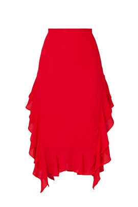 Ruffle Midi Skirt by krisa