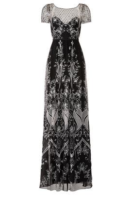 57b58c648f9 Embroidered Dotted Tulle Gown by Marchesa Notte for  150 -  188 ...