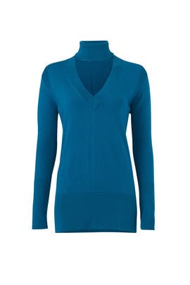 Teal Amulet Turtleneck by Tome