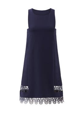 Navy Samba Scallop Dress by Yoana Baraschi