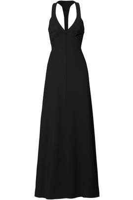 Black Plunge Gown by DEREK LAM