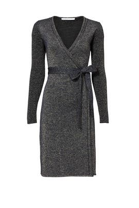 Blue Sparkle Wrap Dress by Diane von Furstenberg
