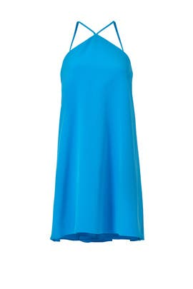 Aqua Cascade Halter Dress by Milly