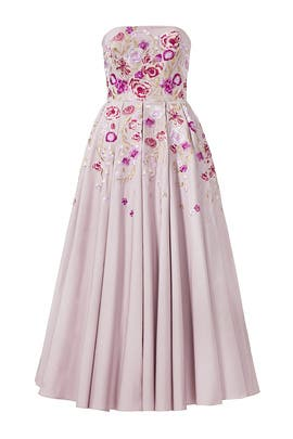 Lilac Midi Dress by Marchesa Notte