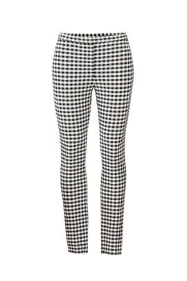 Gingham Skinny Pants by Theory