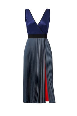 Colorblock Pleat Dress by Diane von Furstenberg