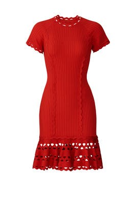 Knit Zig Zag Dress by Jonathan Simkhai