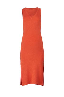 Orange Snap Maternity Dress by MONROW