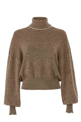 Chestnut Turtleneck Sweater by See by Chloe